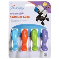 Strollerbuddy® Stroller Clips - Blue/Orange/Purple/Green
