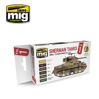Ammo of Mig Jimenez: Commonwealth Sherman Tanks Colour Set