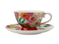 Maxwell & Williams: Teas & C's Glastonbury Footed Cup & Saucer - Poppy Aqua (200ml)