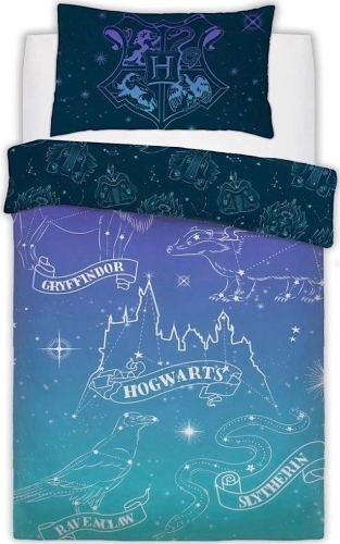 Harry Potter: Reversible Duvet Cover Bedding Set - Celestial Magic (Single)