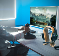 Playmax Wooden Headset Stand - Natural for PC