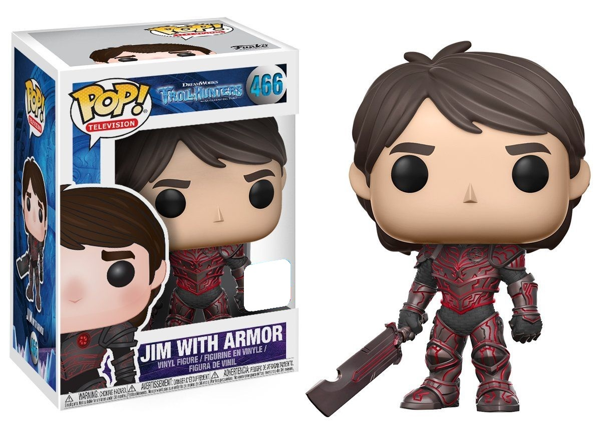 Trollhunters - Jim (Red Armour) Pop! Vinyl Figure (LIMIT - ONE PER CUSTOMER) image
