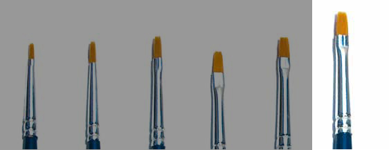 Italeri Synthetic Flat Brush 3