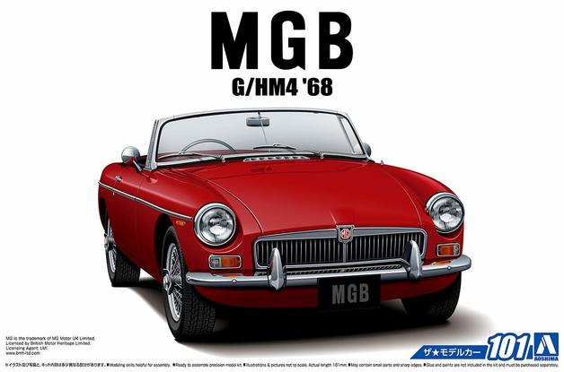 Aoshima: 1/24 BLMC G/HM4 MG-B MK-2 '68 - Model Kit