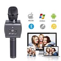 Ape Basics: Colorful LED Wireless Bluetooth Karaoke Microphone - Black image