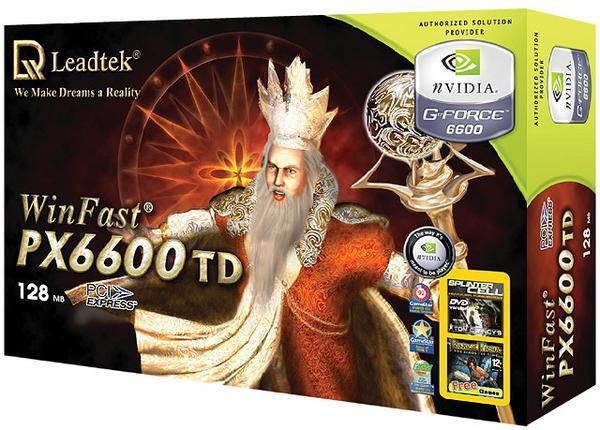Leadtek Graphics Card WinFast PX6600 TD 128M 6600 PCIE