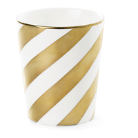 Miss Étoile - Gold Diagonal Stripes Mug