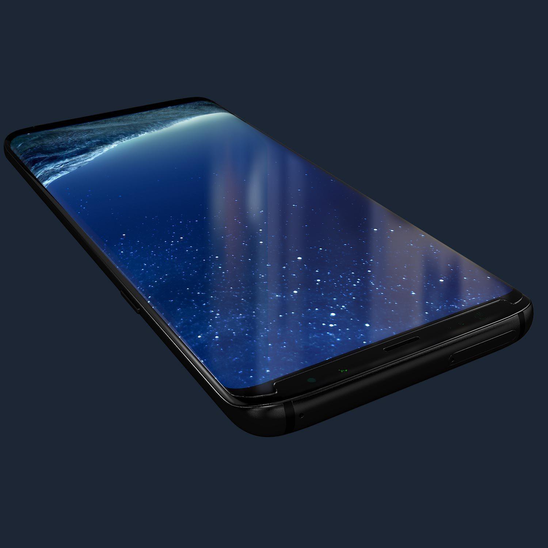 Kase Edge Night Screen Protector- Samsung Galaxy S8 Plus image
