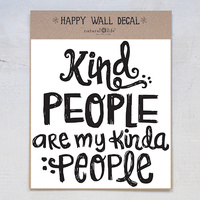 Natural Life: Wall Decal - Kind People