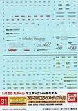 GD-31 MG Strike Freedom Gundam 1/100 Decal Sheet
