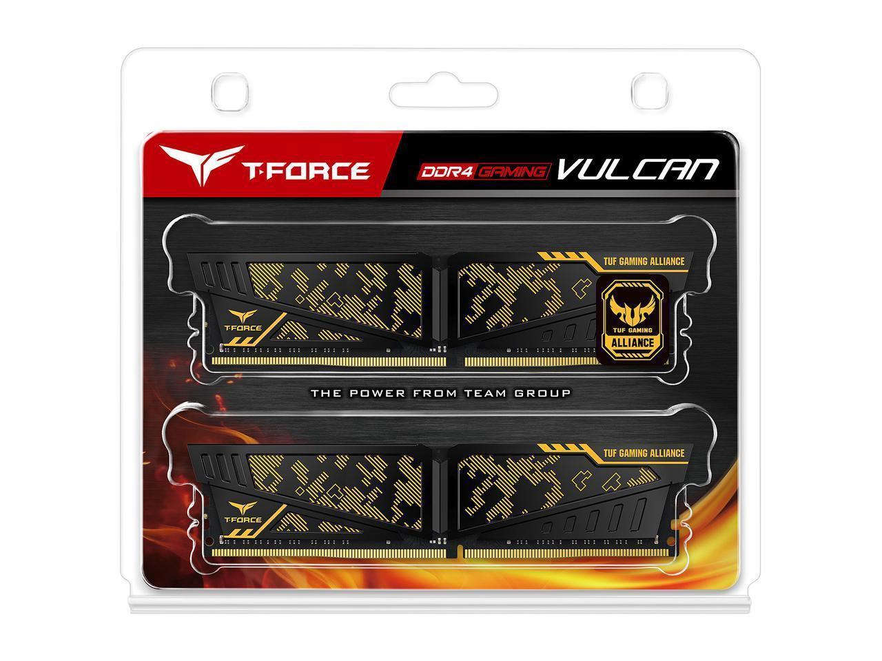 2x8GB Team VULCAN TUF Gaming Alliance 3200MHz DDR4 Gaming RAM image