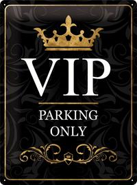 Nostalgic Art: Tin Sign - VIP Parking Only