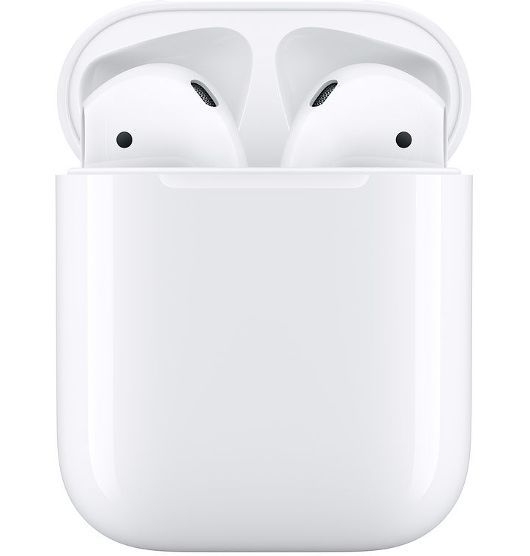 Apple AirPods: (2nd Gen) True Wireless In-Ear Headphones - with wired charging case