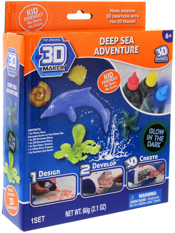 3D Magic: Glow in the Dark Set - Deep Sea Adventure