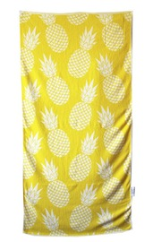 Towelling It XL Beach Towel - Pineapple (With Pocket)