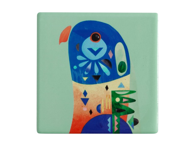 Maxwell & Williams: Pete Cromer Ceramic Square Tile Coaster (Lorikeet)