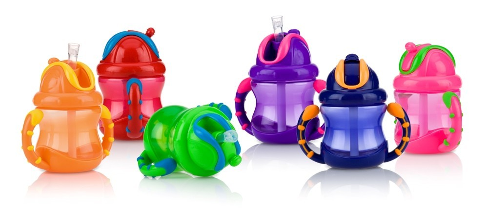 Nuby Flip n' Sip Cup with Handles 240ml image