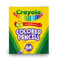 Crayola Colored Pencils Short with Sharpener (64 Pack)