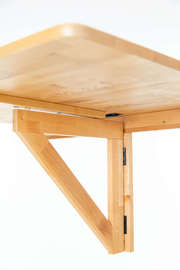 Solid Birch Wood Wall-Mounted Table