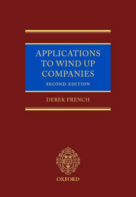 Applications to Wind Up Companies by Derek French image