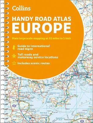 Collins Handy Road Atlas Europe by Collins Maps image
