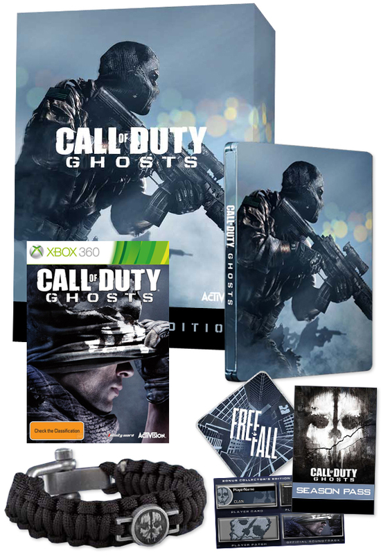 Call of duty: ghosts hardened edition xbox 360 game.