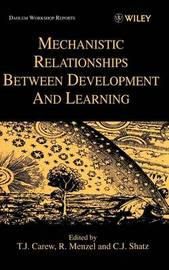 Mechanistic Relationships Between Development and Learning image