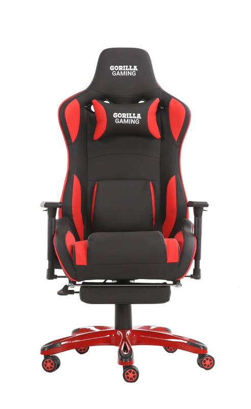 Gorilla Gaming Prime Ape Chair - Red & Black for