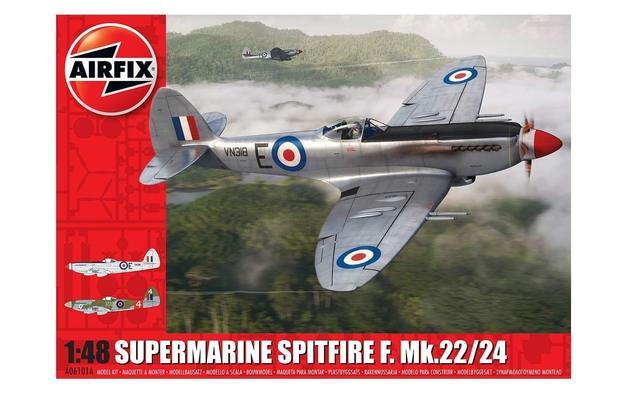 Airfix 1:48 Supermarine Spitfire F.Mk.22/24 Scale Model Kit