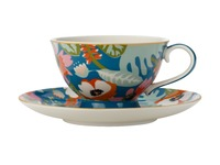 Maxwell & Williams: Teas & C's Glastonbury Footed Cup & Saucer - Alpinia Teal (200ml)