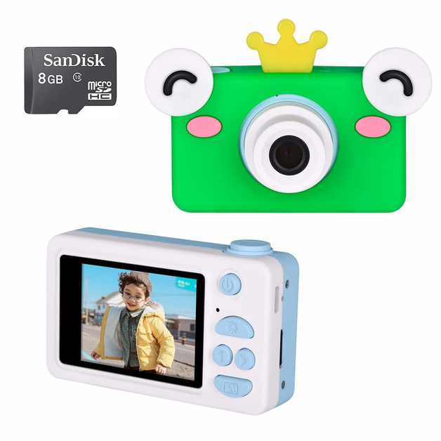 Ape Basics: Kids Digital Camera 1080P with 8GB SD Card - Frog Prince