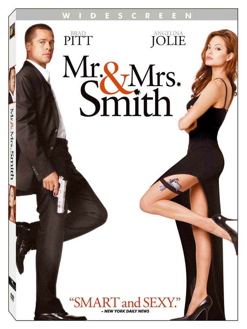 Mr. & Mrs. Smith on DVD image