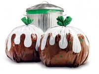 Suck UK Christmas Pudding Rubbish Bags (Pack of 12)