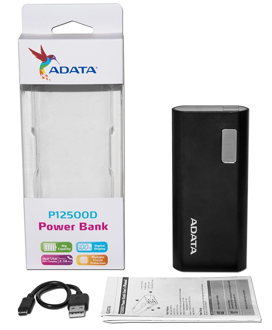 ADATA P12500D 12500mAh Power Bank image
