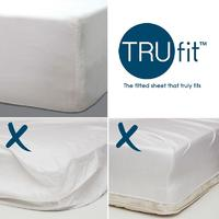 Bambury Tru Fit Fitted Sheet King (White)