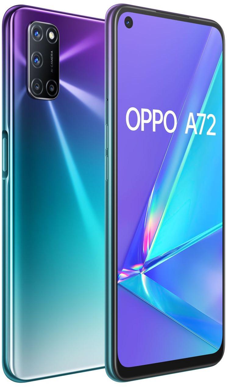 OPPO A72 Dual SIM (128GB/4GB RAM) - Aurora Purple image