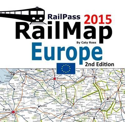 Railpass Railmap Europe by Caty Ross