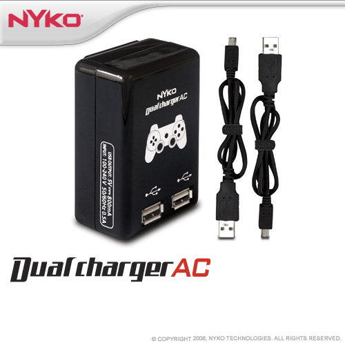 Nyko Dual Charge AC for PS3 image