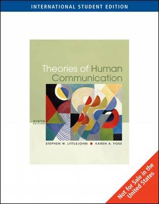 Theories of Human Communication by Stephen W. Littlejohn image