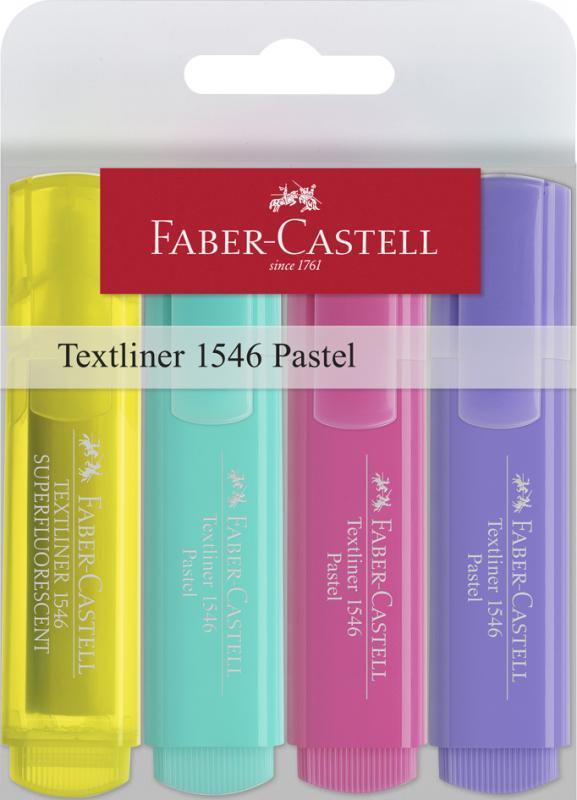 Faber-Castell: Pastel Textliner (Wallet of 4)