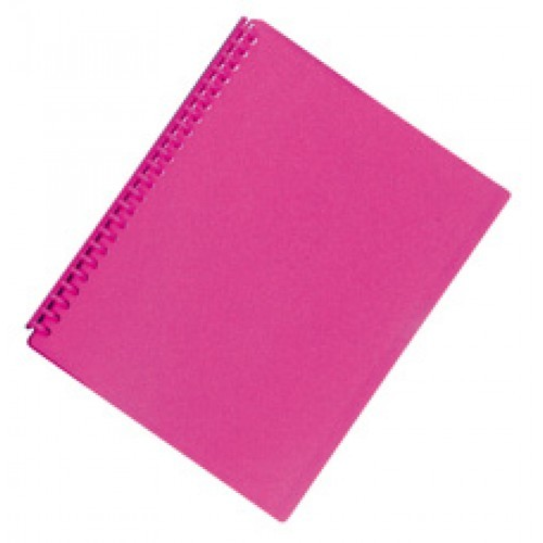 FM A4 20 Pocket Refillable Display Book - Shocking Pink