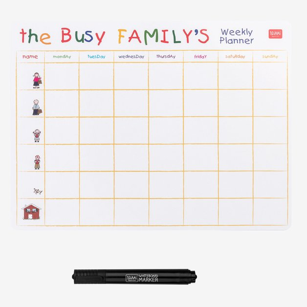 Legami: Something To Remember Magnetic Board - Busy Family