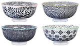 Black Village Kiln Ceramic Bowls - Set of 4