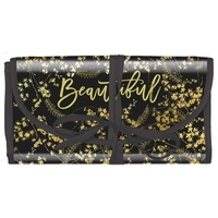 Papaya Cosmetics Travel Organiser - Black Gilded Flowers