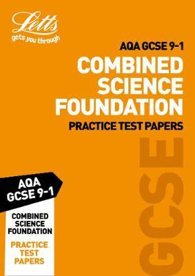 AQA GCSE Combined Science Foundation Practice Test Papers by Letts GCSE image