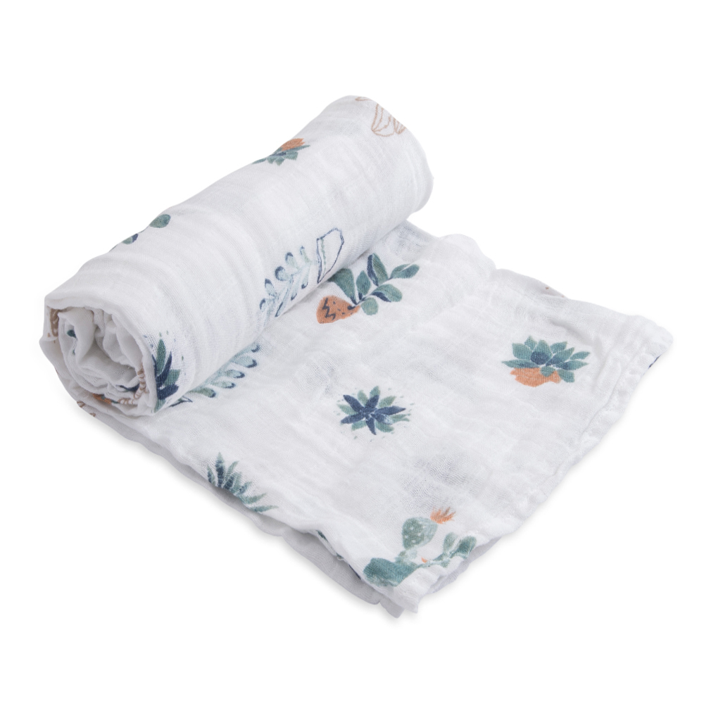 Little Unicorn: Cotton Muslin Swaddle - Prickle Pots (Single) image