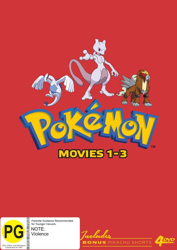 Pokémon Movies 1-3 (Collector's Edition) on DVD