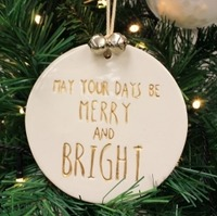 Ingrid Merry & Bright Ceramic Decoration (12cm)