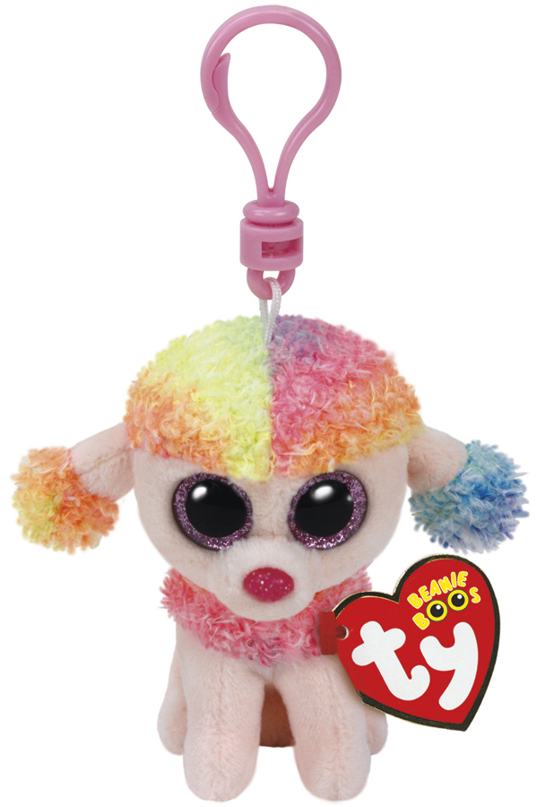 Ty Beanie Boos: Rainbow Poodle - Clip On Plush image