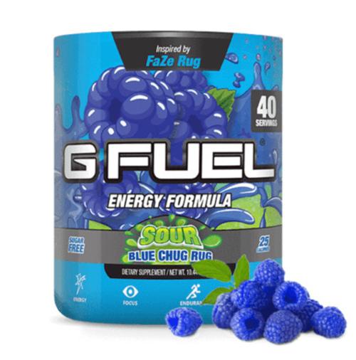 G FUEL Energy Formula - Sour Blue Chug Rug (40 Servings)